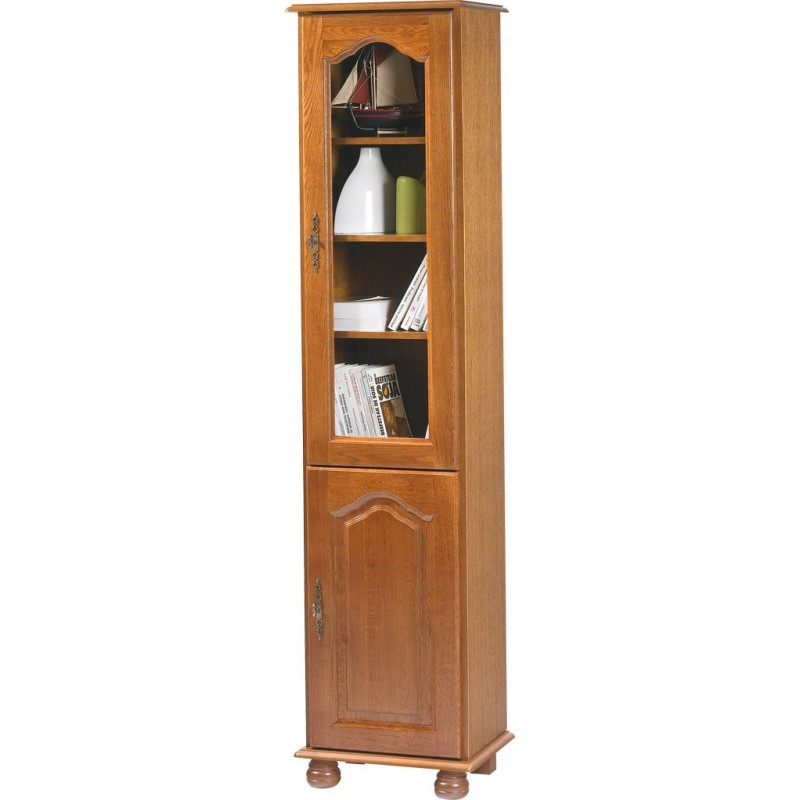 Biblioth que 2 portes ch ne rustique beaux meubles pas chers - Meuble rustique pas cher ...