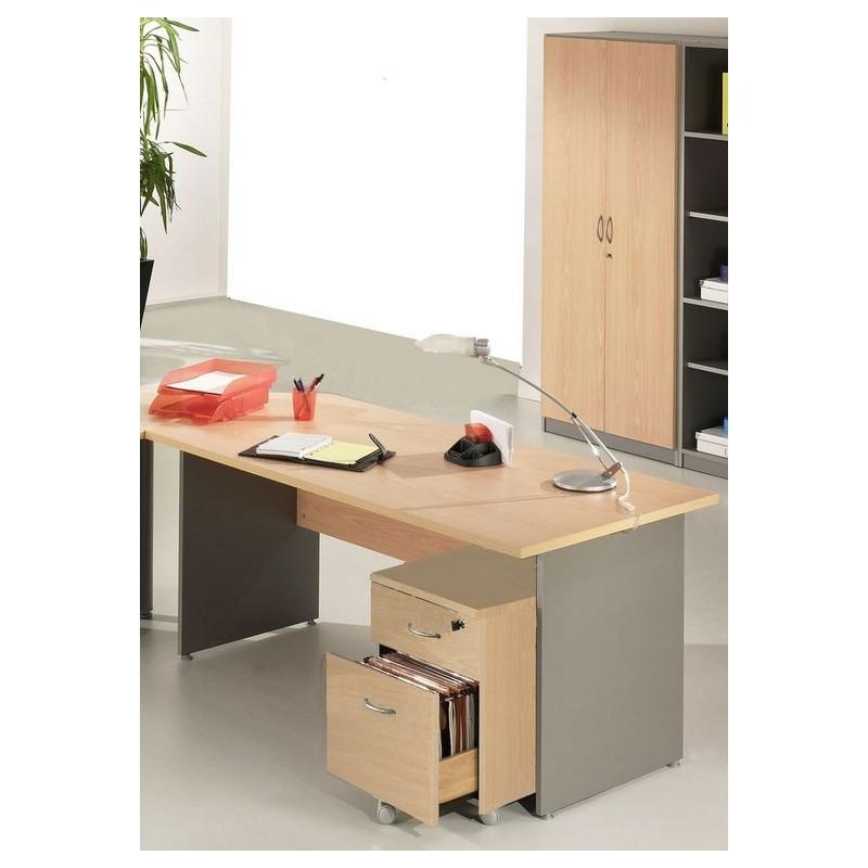 Pack bureau 160 caisson 2 tiroirs armoire haute winch for Meuble bureau 160