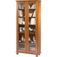 Bibliothèque 2 portes vitrées chêne 6201VAR