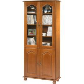 Bibliothèque Chêne Rustique 4 Portes