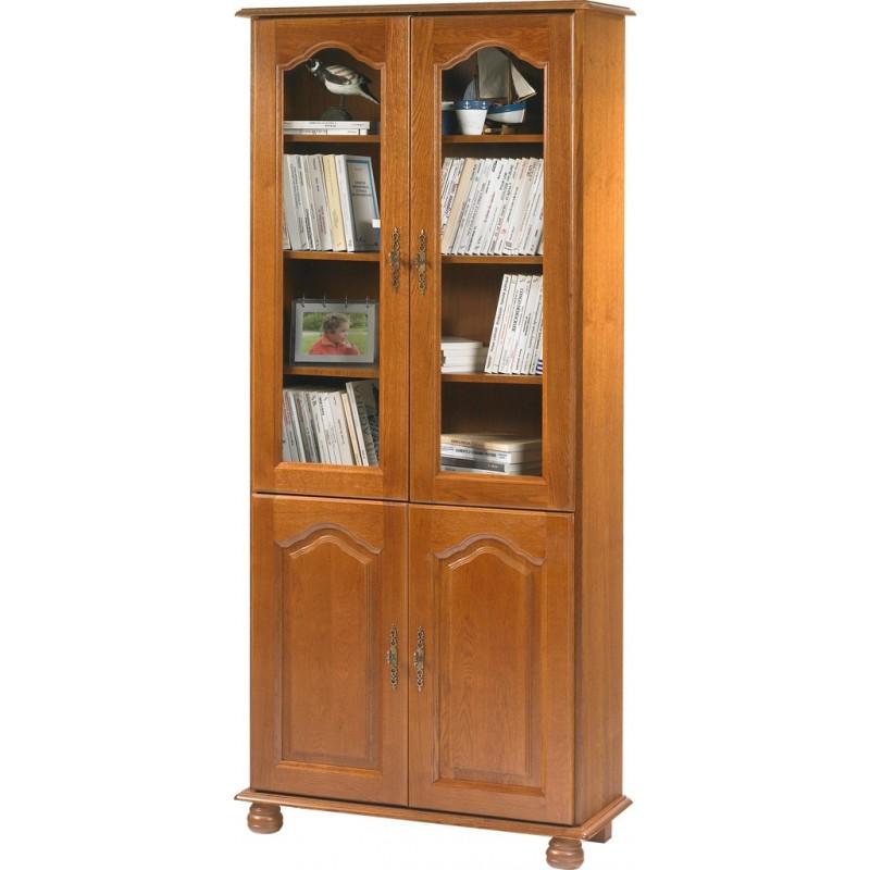 biblioth que ch ne rustique 4 portes beaux meubles pas chers. Black Bedroom Furniture Sets. Home Design Ideas