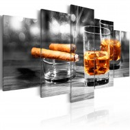 Tableau  Cigars and whiskey