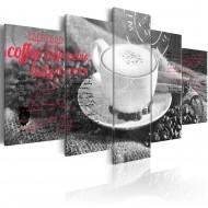 Tableau  Coffe, Espresso, Cappuccino, Latte machiato ...  black and white