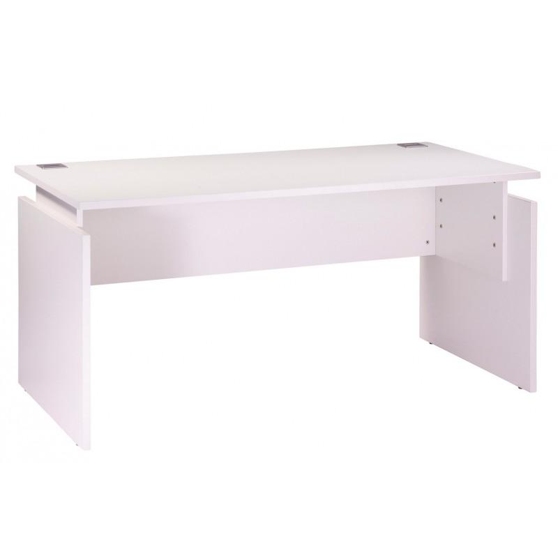 Bureau ineo 160 x 80 cm blanc r glable en hauteur beaux - Bureau reglable en hauteur ikea ...