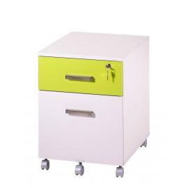 caisson de bureau 2 tiroirs ineo blanc anis avec plumier beaux meubles pas chers. Black Bedroom Furniture Sets. Home Design Ideas