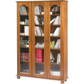 Bibliothèque Chêne 3 Portes Vitrées