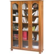 Grande bibliothèque 3 portes vitrées chêne 6301VAR