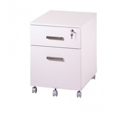 caisson de bureau 2 tiroirs ineo blanc avec plumier. Black Bedroom Furniture Sets. Home Design Ideas