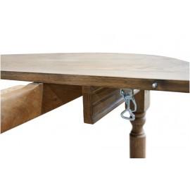 Allonge pour Table Ronde Pieds fuselés 115 cm Chêne Délavé