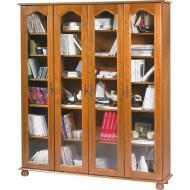 Grande bibliothèque chêne 4 portes vitrées 6401VAR