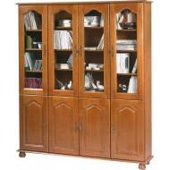 Très grande bibliothèque 8 portes chêne 6402PVAR