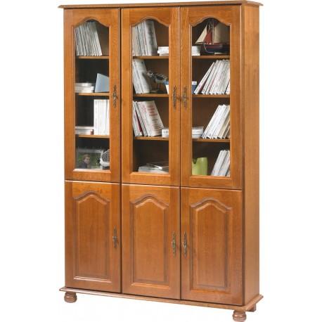Grande bibliothèque 6 portes chêne 6302PVAR