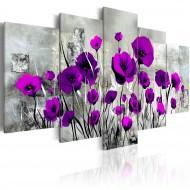 Tableau  Meadow Purple Poppies