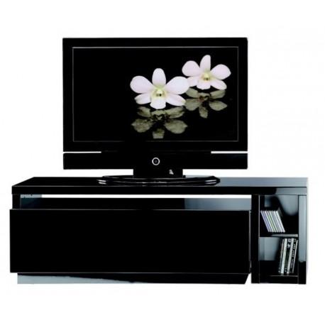 Meuble tv noir modulable beaux meubles pas chers for Meuble tv noir pas cher
