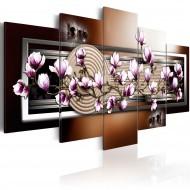 Tableau  Zen garden and magnolia