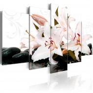 Tableau  Zen stones and lilies