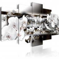 Tableau  Orchids suffused with platinum