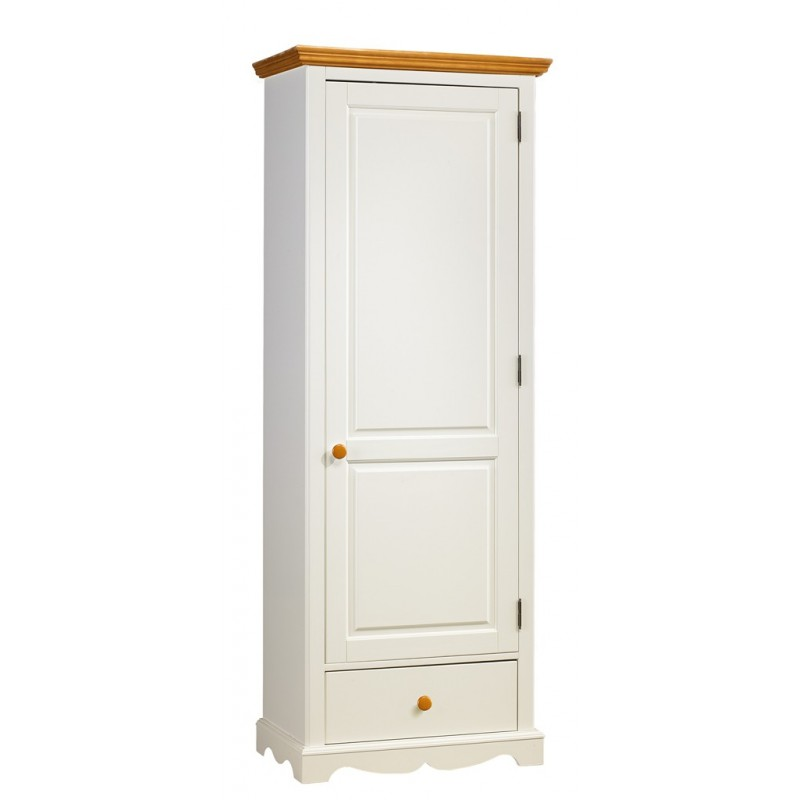 armoire blanche 1 porte maison design. Black Bedroom Furniture Sets. Home Design Ideas