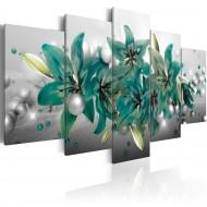 Tableau  Turquoise Bouquet