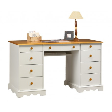bureau ministre blanc et miel de style anglais beaux meubles pas chers. Black Bedroom Furniture Sets. Home Design Ideas