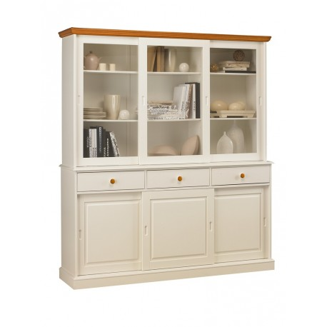 vaisselier biblioth que blanc de style anglais 40846. Black Bedroom Furniture Sets. Home Design Ideas