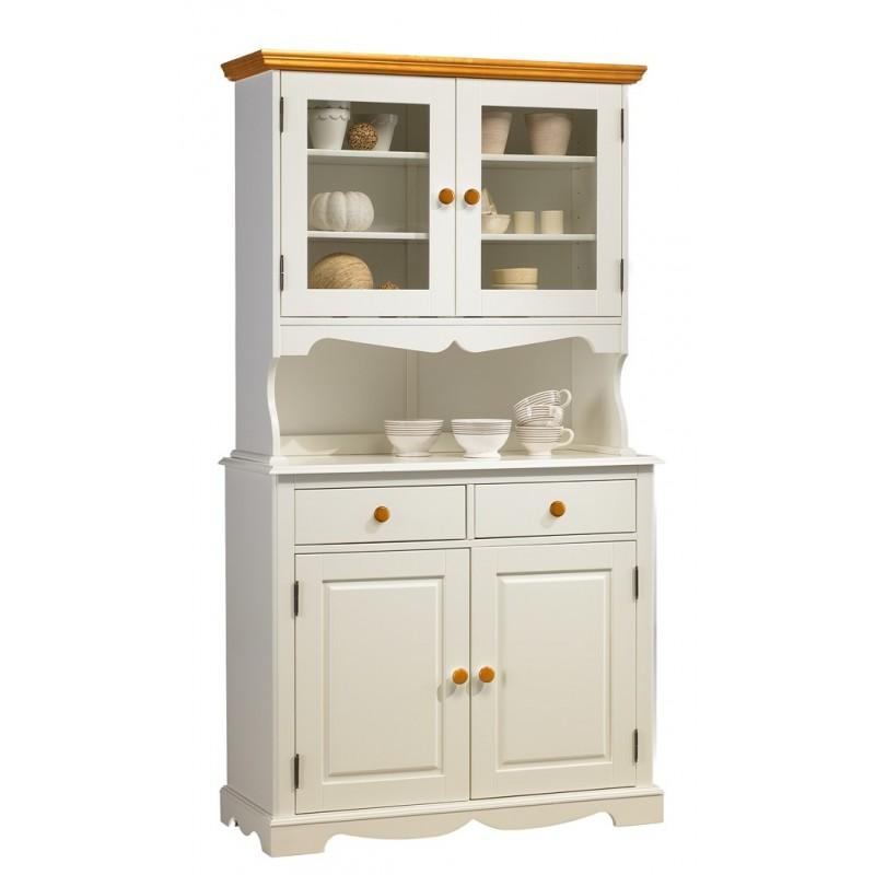 buffet vaisselier blanc et miel 4 portes beaux meubles pas chers. Black Bedroom Furniture Sets. Home Design Ideas