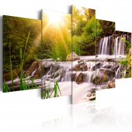 Tableau  Forest Waterfall