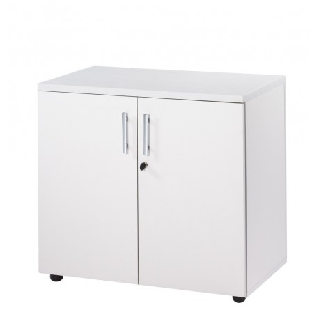 armoire de bureau basse 2 portes blanche ineo beaux meubles pas chers. Black Bedroom Furniture Sets. Home Design Ideas