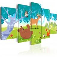 Tableau  Friendly Animals (5 Parts)