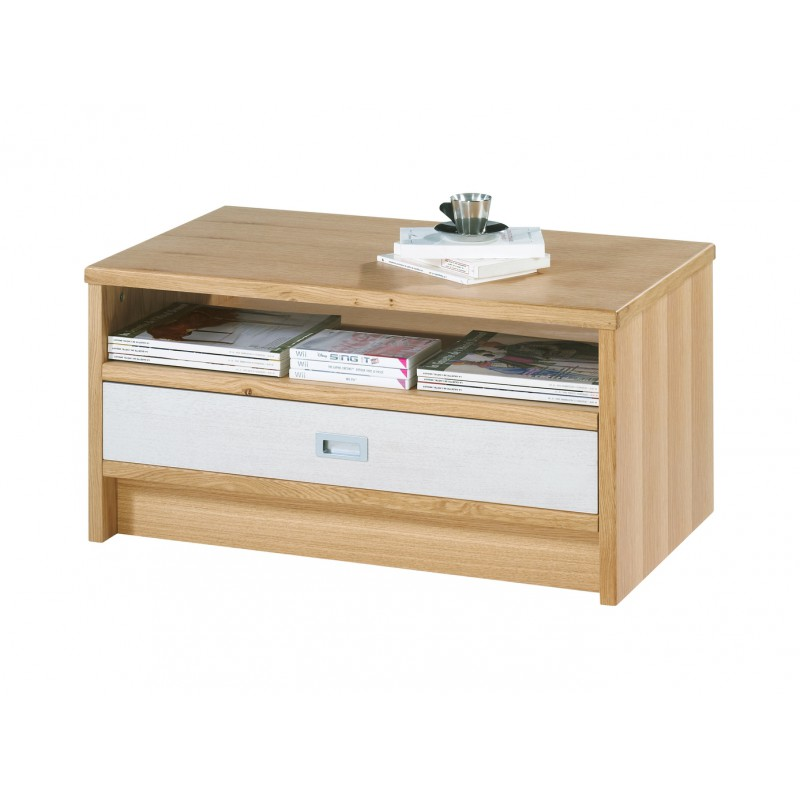 table basse ch ne clair rectangle 120 cm. Black Bedroom Furniture Sets. Home Design Ideas