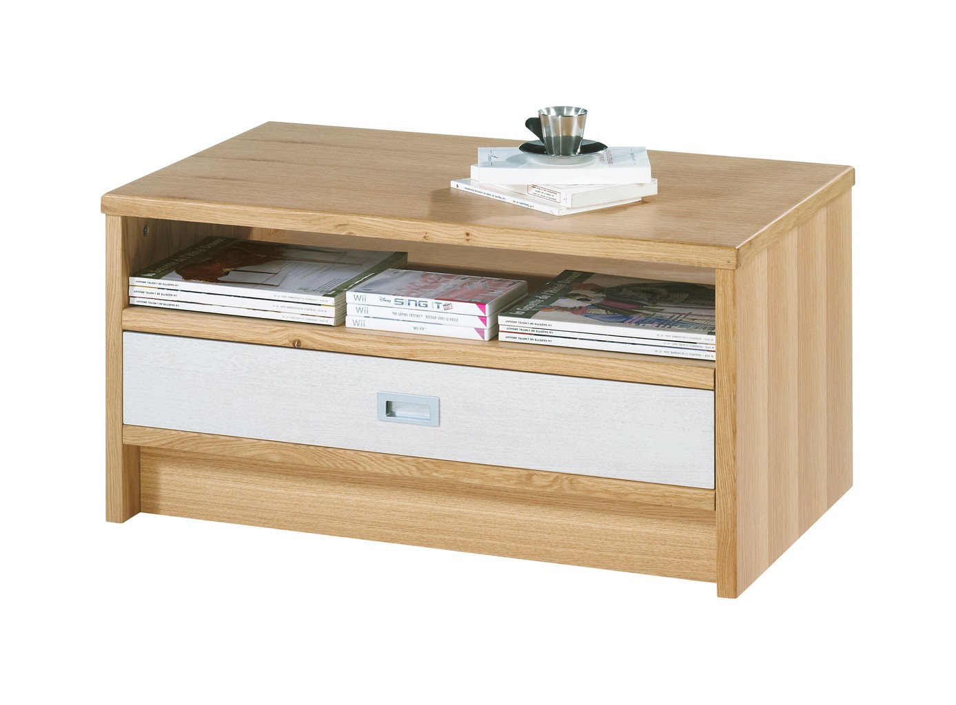 Table Rectangle Chêne Basse 120 Cm Clair BCeQroWdx