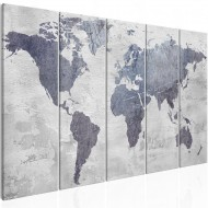 Tableau  Concrete World Map (5 Parts) Narrow