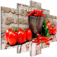 Tableau  Red Vegetables (5 Parts) Brick Wide