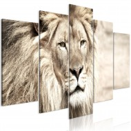 Tableau  The King of Beasts (5 Parts) Wide Beige