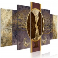 Tableau  She and He (5 Parts) Wide Golden