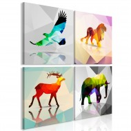 Tableau  Colourful Animals (4 Parts)