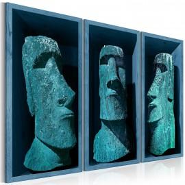 Tableau - Blue Colossi (Moai)