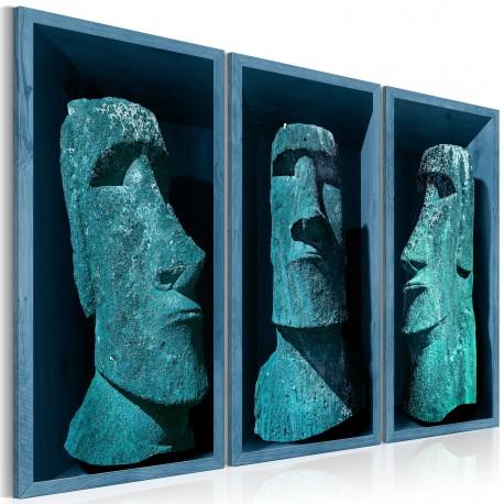 Tableau  Blue Colossi (Moai)
