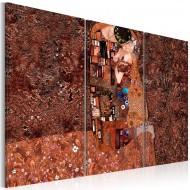 Tableau  Klimt inspiration  Couleur de lamour