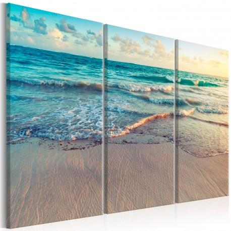 tableau beach in punta cana 3 parts beaux meubles. Black Bedroom Furniture Sets. Home Design Ideas