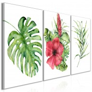 Tableau  Red Hibiscus (3 Parts)