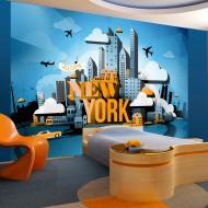 Papier peint  New York  welcome