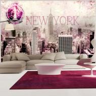 Papier peint  Pink New York