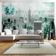 Papier peint  New York émeraude