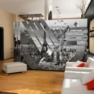 Papier peint  The world ... (black and white)