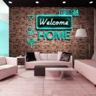 Papier peint  Welcome home  inscription