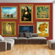 Papier peint  Red wall of treasures