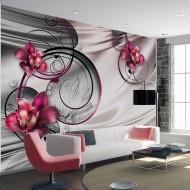 Papier peint  Orchids on satin