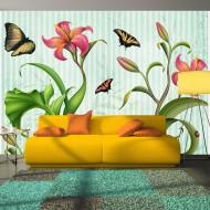 Papier peint  Vintage  butterflies