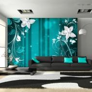 Papier peint  Blooming verdigris